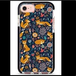 NEW iPhone 6/7/8 Fox Case w/Glass Screen Protector